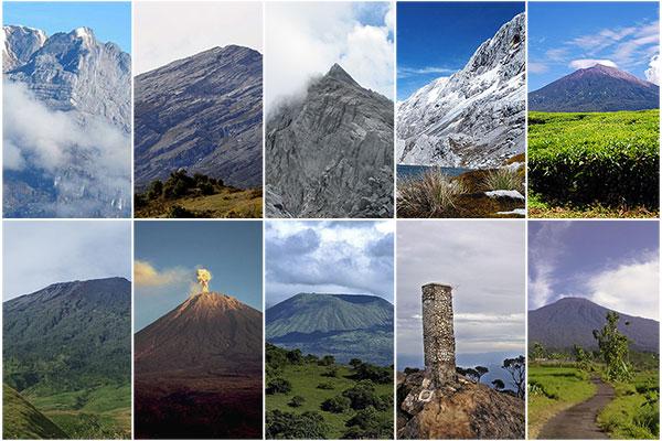 Gunung Tertinggi Di Indonesia Infonusa WordPress Com